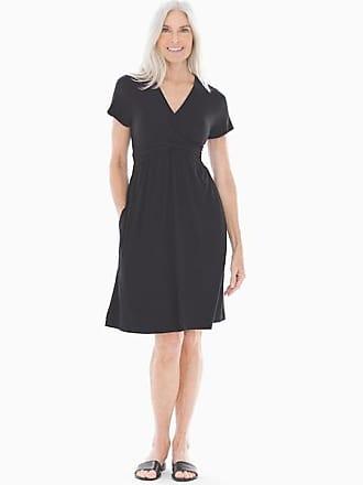 Soma Soft Jersey Short Sleeve Wrap Dress Black, Size XS