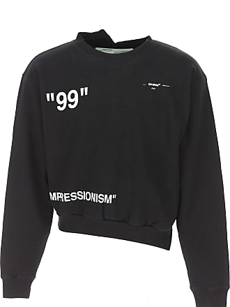 Off-white Sweatshirt for Men On Sale, Black, Cotton, 2017, L S
