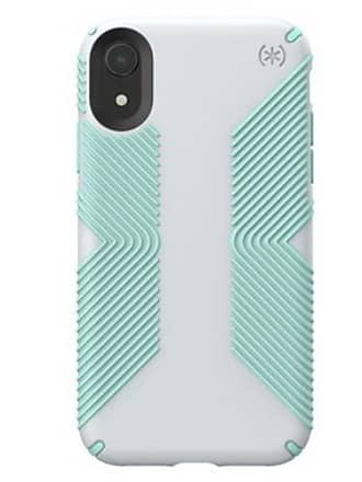 SPECK Apple iPhone XR Presidio Grip Case - Dolphin Gray/Aloe Green