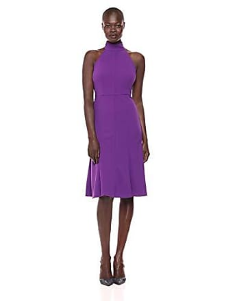 Donna Morgan Womens Midi-Length Halter Dress, Bright Purple, 16