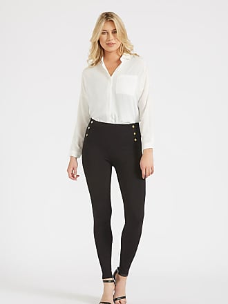Alloy Apparel Tall Valencia Sailor Skinny Plus Size Pants for Women Black 15/35 - Nylon