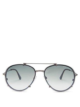 Tom Ford Eyewear Dickon Aviator Sunglasses - Mens - Silver