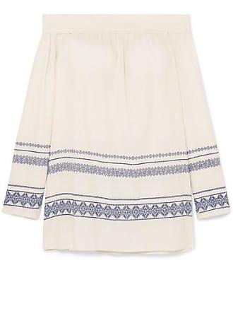Zeus + Dione Leto Off-the-shoulder Cotton-blend Gauze Mini Dress - Ivory