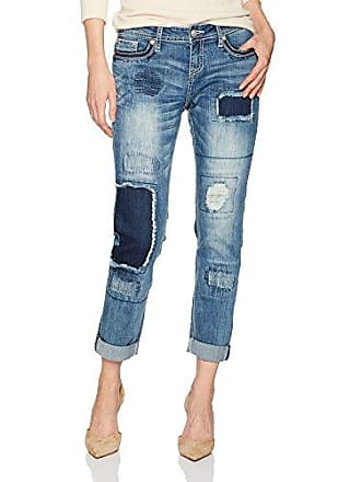 Grace in L.A. Womens Boho Boyfriend Jean, Patchwork, 28