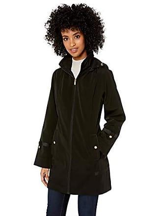 Jones New York Womens Classic Trench Coat, Black, S