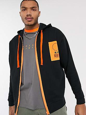 Reclaimed Vintage black zip through hoodie