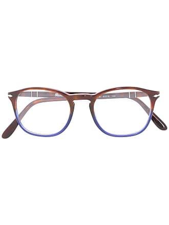 Persol Armação de óculos oval - Marrom