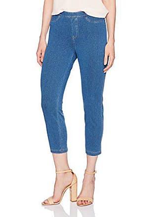 0df95d8cc5614 No Nonsense Womens Classic Denim Capri Legging with Pockets, Light Denim, XL