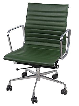 New Pacific Direct 6900004-VA Langley Low Back Office Chair, Vintage Asparagus