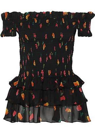 7aa136526a1b4 Caroline Constas Caroline Constas Woman Hydra Off-the-shoulder Floral-print  Silk-