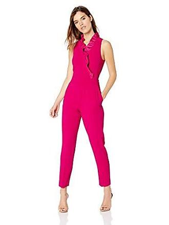 ce02c0f1f9c Trina Turk Womens Pink Lady Ruffle Collar Jumpsuit