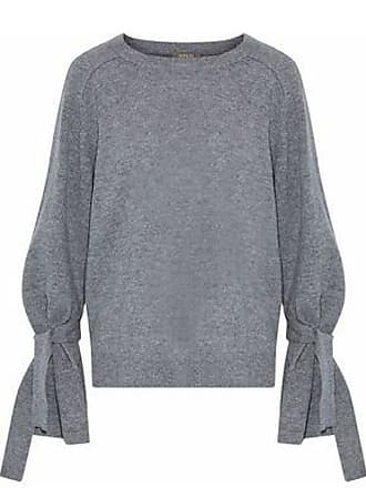 N.Peal N.peal Woman Tie-detailed Cashmere Sweater Gray Size XS