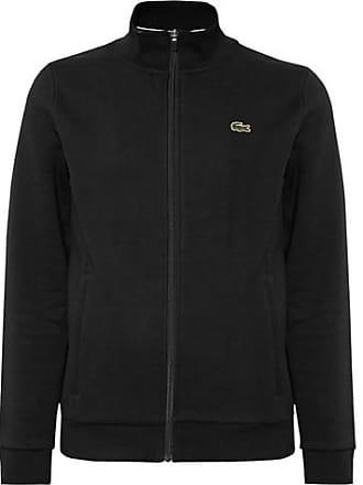c9704cc7c202b3 Lacoste Fleece-back Cotton-blend Jersey Zip-up Tennis Jacket - Black