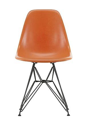 Vitra DSR Fiberglass Side Chair Dark Base