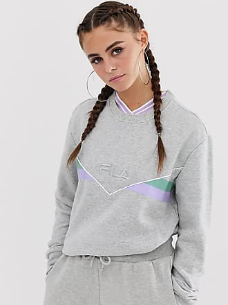 fdc9430e2539b Fila oversized sweatshirt with front logo and neon piping co-ord