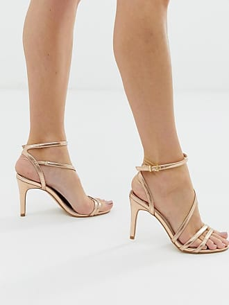 8b38272eb30 Faith Delly rose gold strappy heeled sandals - Pink