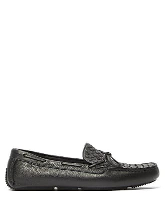 1f6b18ec540 Bottega Veneta Intrecciato Leather Driving Loafers - Mens - Black