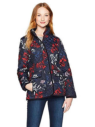 3cbf56b0a Joules Womens Newdale Floral Print Quilted Jacket, Marine Navy Fay Floral,  12