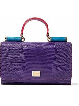 5c71a366be03 Dolce   Gabbana Dolce   Gabbana Woman Color-block Textured-leather Phone  Case Purple