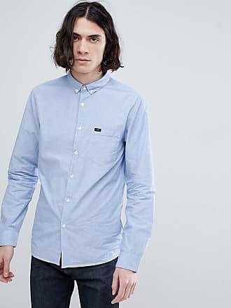 Lee Blå skjorta i slim passform - Blå 33313e2442fa2