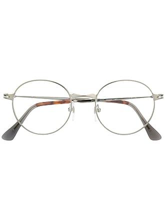 Persol Armação de óculos redonda - Prateado