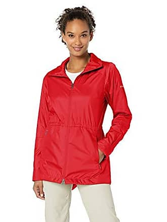 feeab87b6 Columbia Womens Sustina Springs Long Lined Windbreaker, Cherrybomb, Medium