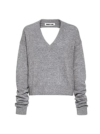 McQ by Alexander McQueen V-neck Cutout Back Sweater Grey Melange 1319fa6e8