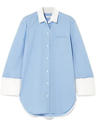 Equipment Clarke Two-tone Cotton-poplin Shirt - Blue