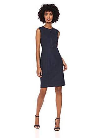 077075f3437d9 Elie Tahari Womens Plaid Suiting GALIENA Sheath Dress, Navy Multi 12