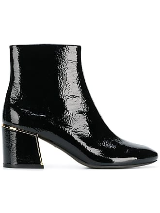 c27f9440f90be Tory Burch gold-tone appliqué ankle boots - Black