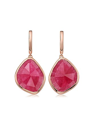 Monica Vinader Siren Large Nugget Pink Quartz earrings