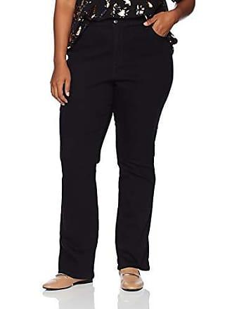 Gloria Vanderbilt Womens Amanda Bootcut Denim Jean, Black Rinse, 8 Short