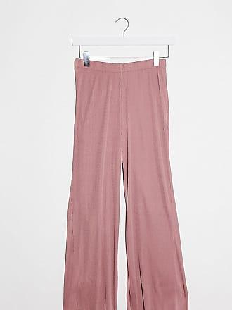 Asos Petite ASOS DESIGN Petite plisse culotte trouser in rose-Pink