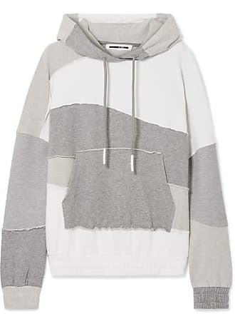 McQ by Alexander McQueen Terry-panelled Cotton-jersey Hoodie - White