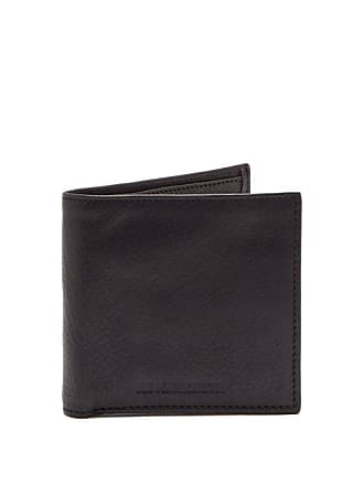 Ann Demeulemeester Bi Fold Leather Wallet - Mens - Black