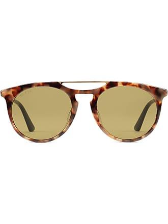 3ac49eb9bfba1 Gucci Round-frame acetate sunglasses - Brown