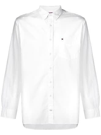 Tommy Hilfiger Camisa Essential com bolso frontal - Branco