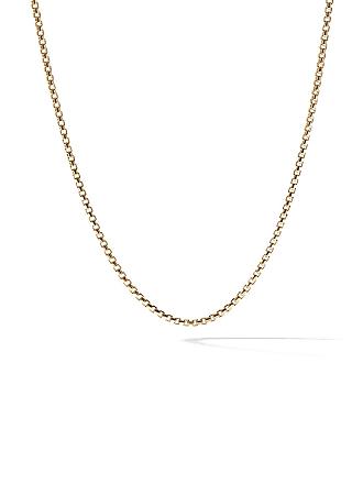 David Yurman 18kt yellow gold Box Chain necklace - 88