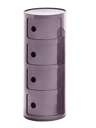Kartell Componibili 4 Container - lila/glänzend/H 77cm/ Ø 32cm/Neue Farbe
