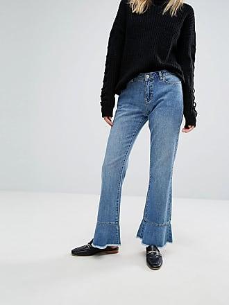 Vero Moda Ruffle Hem Jeans - Blue