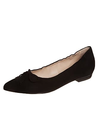 c6cf33a1e5f Högl Womens Ladies Högl Ballerina Ballet Pointed Toe Pumps in Black Suede  Leather HO 560