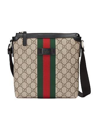 5888b2f055bb Gucci Web GG Supreme flat messenger bag - Neutrals