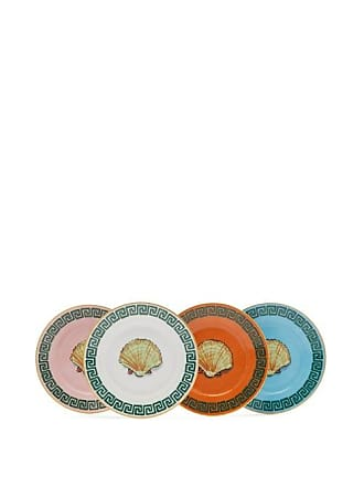 Richard Ginori X Luke Edward Hall Set Of 4 Shell Bread Plates - Multi