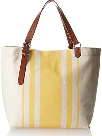 Cole Haan Womens Canvas Stripe Tote, natural-sunset gold