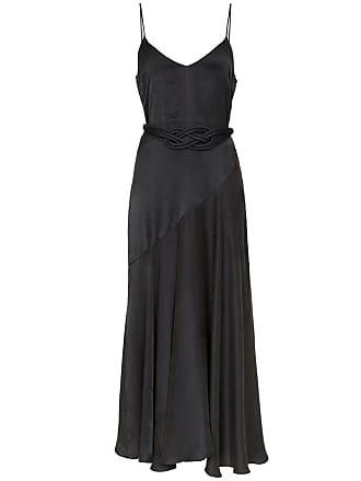 ca8c3551681 Mara Hoffman Nina woven-belt satin maxi dress - Black