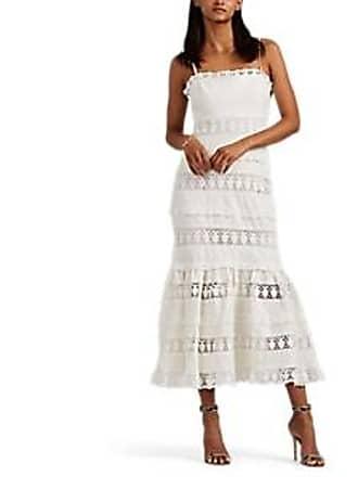 0a5d536f4e Zimmermann Womens Wayfarer Crocheted-Inset Linen Strapless Dress - White  Size 2