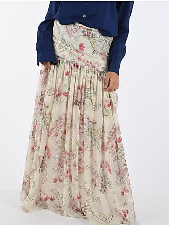 Giambattista Valli Floral Printed Silk Gipsy Skirt size 44