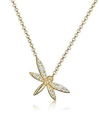 07dcc9561856 Elli Collar con Colgante Mujer Plata Plata Esterlina 925 1000 Cristal  Redonda