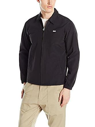 Obey Mens No No Wave Gas Station Jacket, Black, Small