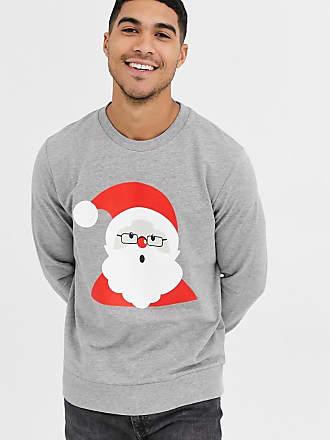 Jack & Jones Kerstmis - Sweatshirt met Kerstman-Grijs